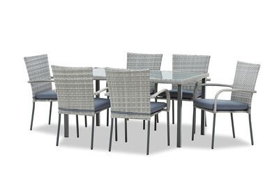 HAMILTON - 7 Piece Outdoor Dining Setting