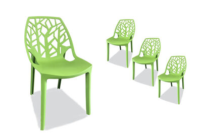 RAVENNA - Light Green Set of 4 Outdoor Chairs
