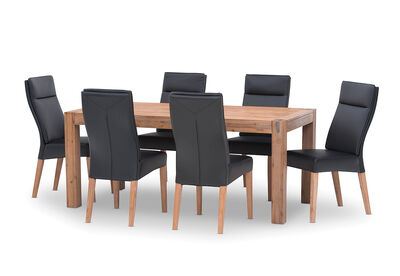 SILVERWOOD - 7 Piece Dining Suite with Asheville Chairs