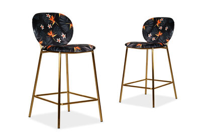 GACHIE - Floral Set of 2 Bar Stools