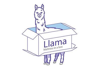 LLAMA Amethyst - 20cm Box Top Hybrid Mattress in a Box - Queen