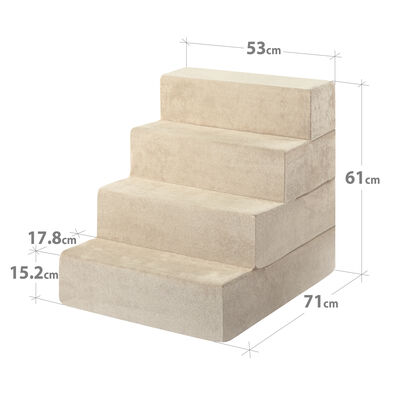 HATTIE - 4 Step Pet Stairs X-Large