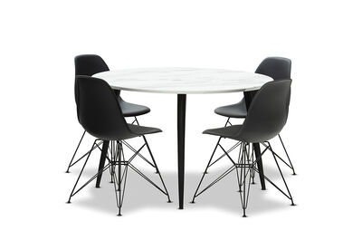 AMARAH - 5 Piece Dining Suite with Overo Chairs