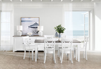 MARSEILLE - 7 Piece Dining Suite with Clouds Dining Chairs