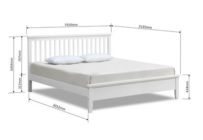 DURHAM - White King Bed