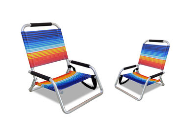 PORTILLO - Set of 2 Navy Beach Chairs