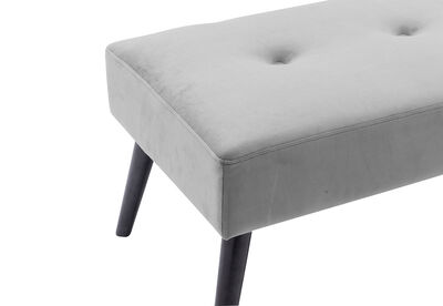 ARBOR - Dark Grey Upholstered Bench Seat