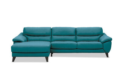 COHEN - Leather 3 Seater with Left-Hand Facing Chaise