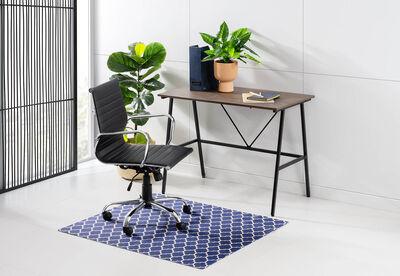 KOUROU - Navy Tangier Trellis Chair Mat