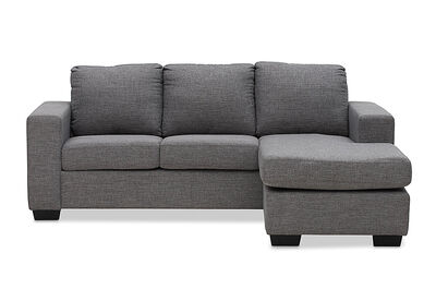 BONZA - Fabric 3 Seater Sofa with Chaise