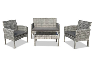 ISAIAH - 4 Piece Outdoor Lounge Setting