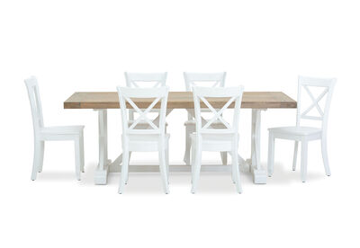 NORMANDY - 7 Piece Dining Suite with Clouds Dining Chairs