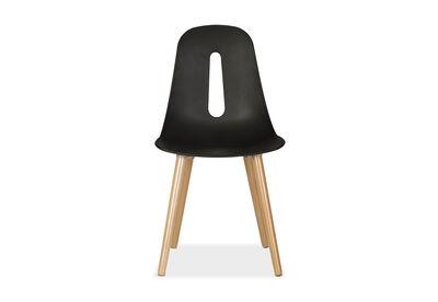 SKALBORG - Set of 4 Black Dining Chairs