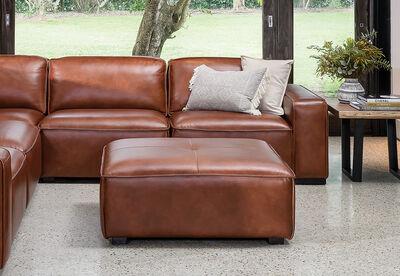 VERENA - Leather Ottoman