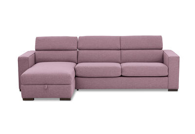 ANGUS - Fabric Left-Hand Facing 3 Seater Chaise with Sofa Bed