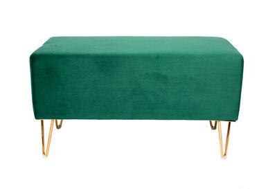 BEAUFORT - Green Velvet Ottoman Bench