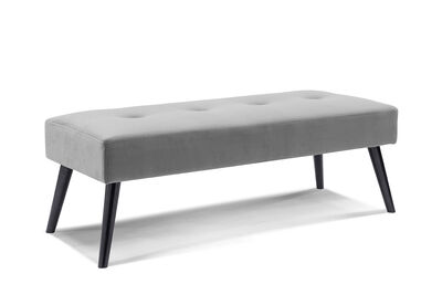 ARBOR - Dark Grey Upholstered Bench Seat