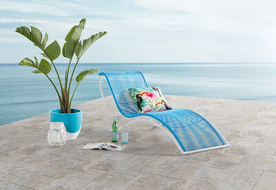 JOY - Outdoor Sunlounge with White Frame