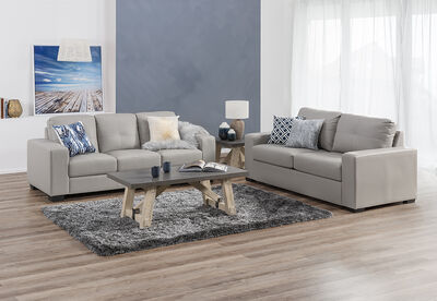 DIAMOND - Leather-Look Sofa Pair
