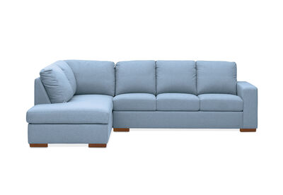 NIXON - Fabric 4 Seater Sofa with Left-Hand Facing Chaise