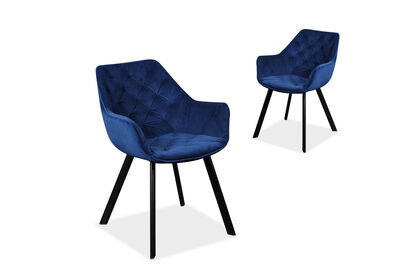 CLAREDON - Set of 2 Dining Chairs
