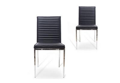 LAS PALMAS - Set of 2 Black Dining Chairs