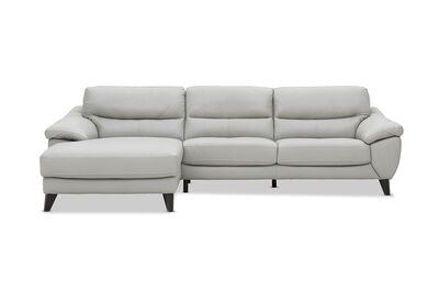 COHEN - Leather 3 Seater Chaise