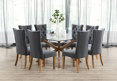 PROMENADE - 9 Piece Dining Suite with Nottingham Dining Chairs