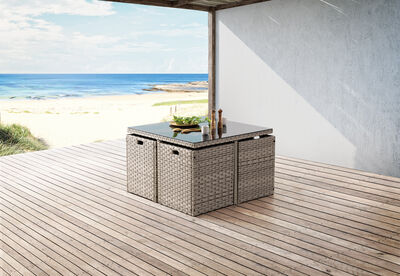 NOBBY - 5 Piece Outdoor Dining Setting