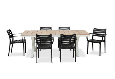 ELWOOD - 7 Piece Outdoor Dining Setting with Lyla Chairs