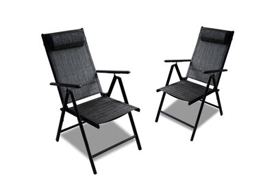 GANDER - Set of 2 Grey Outdoor Folding Chairs