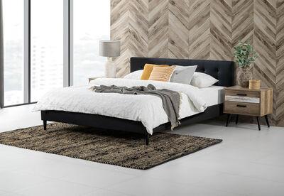 MURTEN - Charcoal King Bed