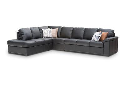 BRAYDEN - Leather Corner Lounge Left-Hand Facing Chaise