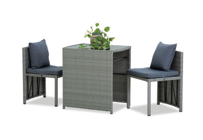 ANDROSO - 3 Piece Outdoor Dining Setting