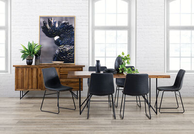 LIVE EDGE - 7 Piece Dining Suite with Loz MK2 Dining Chairs