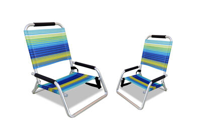PORTILLO - Set of 2 Navy/Green Beach Chairs