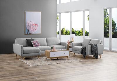 PHOEBE - Fabric Sofa Chaise Pair