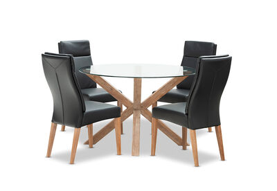 PROMENADE - 5 Piece Dining Suite with Asheville Dining Chairs