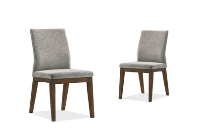 WANDSWORTH - Set of 2 Grey Dining Chairs