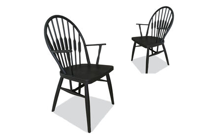 SIMSBURY - Set of 2 Black Dining Chairs
