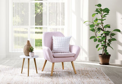 GUYER - Fabric Accent Chair