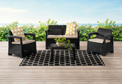 SAANEN - 4 Piece Outdoor Lounge Setting