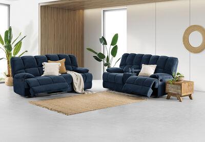 SPARTACUS - Fabric Sofa Pair