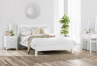 NORTHAMPTON - White Queen Bed