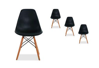 TAMA - Set of 4 Black Replica Eames Kids Chairs