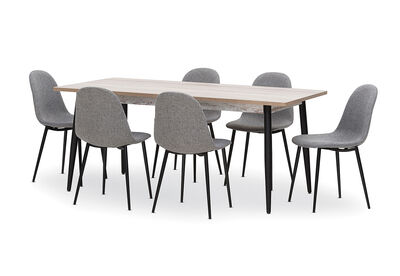 KORI - 7 Piece Dining Suite with Benji Dining Chairs