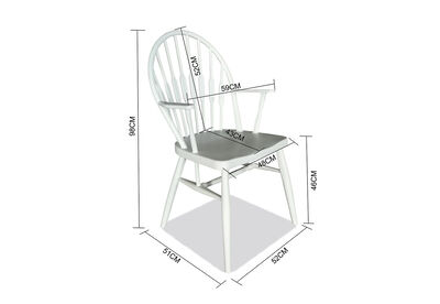 SIMSBURY - Set of 2 White Dining Chairs