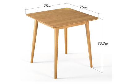 ROMAN - Natural 750 Square Dining Table