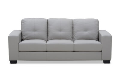 DIAMOND - Leather-Look 3 Seater Sofa