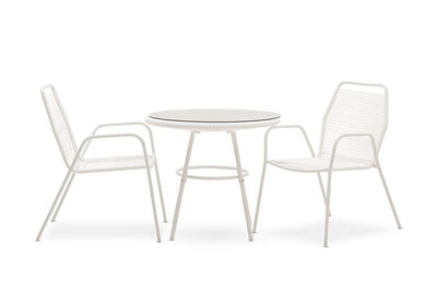 JOY - 3 Piece Outdoor Dining Set with White Frame